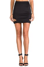 Risky Mini Skirt w/ Cut-Outs in Black