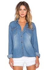 MINKPINK Blue Skies Denim Shirt in Vintage Blue