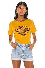 MINKPINK Taco Week Tee in Mustard