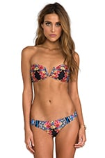 Lacey's Choice V Wire Bandeau Bikini Top in Multi