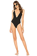 MINKPINK Lush Shirred One Piece in Black