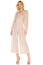 MISA Los Angeles Zoza Jumpsuit in Blush Stripe