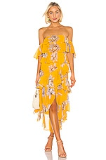 MISA Los Angeles Dalila Dress in Yellow Floral