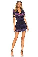 MISA Los Angeles Becca Dress in Purple Tie Dye