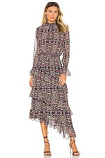 MISA Los Angeles Rania Dress in Mixed Ditsy Floral