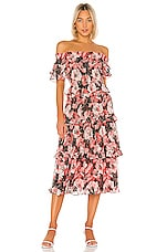 MISA Los Angeles Tallulah Dress in Coral Floral