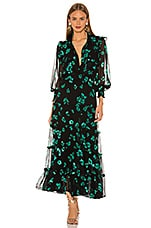 MISA Los Angeles Regina Dress in Emerald Floral