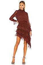 MISA Los Angeles X REVOLVE Savanna Dress in Mini Red Banana Leaf