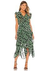 MISA Los Angeles Dakota Dress in Green Mini Blooms