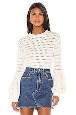 MISA Los Angeles Vayda Sweater in White Rabbit