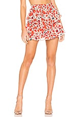 MISA Los Angeles Manya Skirt in Red Floral