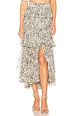 MISA Los Angeles Joseva Skirt in Green Floral