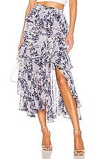 MISA Los Angeles X REVOLVE Joseva Skirt in Blue Multi Floral