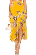 MISA Los Angeles Randi Skirt in Floral Yellow
