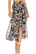MISA Los Angeles X REVOLVE Kiana Skirt in Black Ditsy Floral
