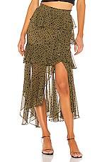 MISA Los Angeles Kiana Skirt in Green Dot