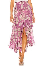 MISA Los Angeles X REVOLVE Joseva Skirt in Pink Navy Floral