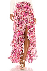 MISA Los Angeles Lucia Skirt in Pink Floral