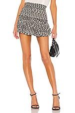 MISA Los Angeles Willa Skirt in Grey Snake