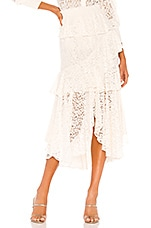 MISA Los Angeles Joseva Skirt in Floral Lace