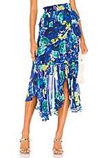 MISA Los Angeles X REVOLVE Joseva Skirt in Sapphire Floral