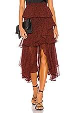 MISA Los Angeles X REVOLVE Joseva Skirt in Mini Red Banana Leaf