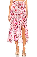 MISA Los Angeles Themis Skirt in Gardenia