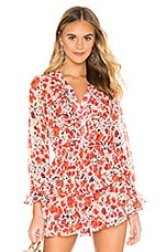 MISA Los Angeles Lillie Top in Red & White Floral