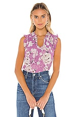 MISA Los Angeles X REVOLVE Agot Top in Pink Navy Floral