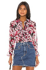 MISA Los Angeles X REVOLVE Lillie Top in Magenta Floral