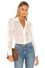 MISA Los Angeles Patrina Top in Floral Lace