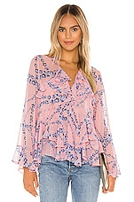 MISA Los Angeles X REVOLVE Damaris Top in Intertwined Pink Floral
