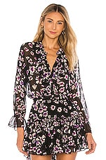 MISA Los Angeles Lillie Top in Black Floral