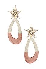 Maryjane Claverol Desideria Earrings in Silver & Pink