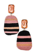 Maryjane Claverol Preston Earrings in Black & Blush