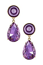 Maryjane Claverol Louis Earrings in Purple Stripe