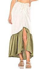 MORGAN LANE Abi Skirt in Olive & Cream