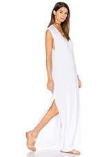 Henderson V Neck Dress with Slit in White