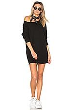 Michael Lauren Titus Sweatshirt Dress in Jet Black