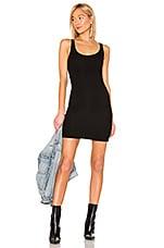 Michael Lauren Boston Rib Tank Dress in Black