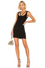 Michael Lauren Barry Dress in Black