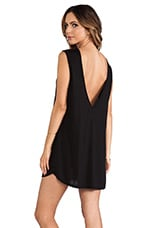 Lazer Deep V Tank Dress in Black