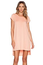 Lucky Side Slit Dress in Peach Sky