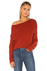 Michael Lauren Jarrett Off the Shoulder Sweater in Spice