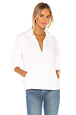 Michael Lauren Daley Funnel Neck Pullover in White
