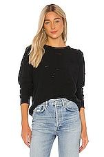 Michael Lauren Calvin Distressed Sweatshirt in Black