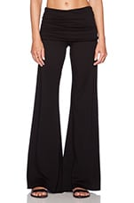 Costa Fold Over Bell Pant in Black