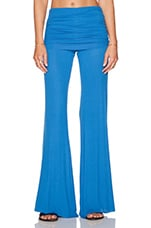 Costa Fold Over Bell Pant in Marine Blue