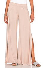 Troy Wide Leg Pant with Slit in Malt