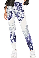 Michael Lauren Bear Sweatpant in Lilac Swirl